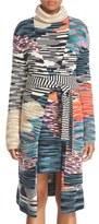 Missoni Space Dye Intarsia Wool Blend Wrap Long Cardigan