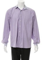 Etro Slim-Fit Striped Button-Up