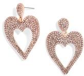 BaubleBar Women's Amara Pave Heart Drop Earrings