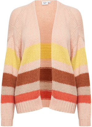 Saint Tropez Pink Multi-Coloured Crystal Knit Cardigan small