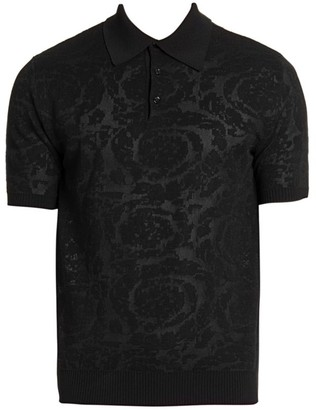 Versace Burnout Polo Shirt