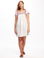 Old Navy Embroidered-Trim Dress for Women