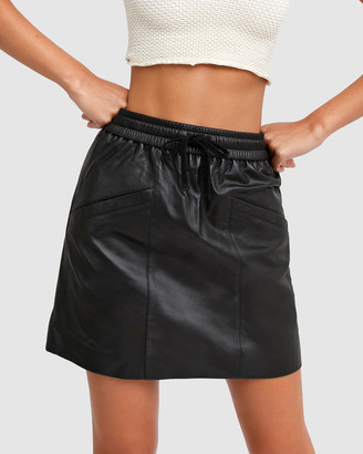 Belle & Bloom Midnight Magic Leather Mini Skirt
