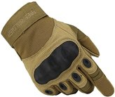 FREE SOLDIER Outdoor Men Military Hard Knuckle Full Finger Glove Tactical Armor Gloves
