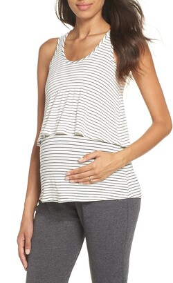 Belabumbum Maternity/Nursing Layered Sleep Tank