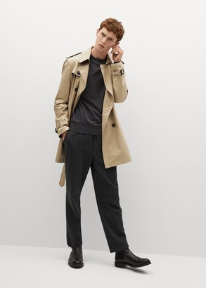 MANGO MAN - Water-repellent cotton trench beige - S - Men
