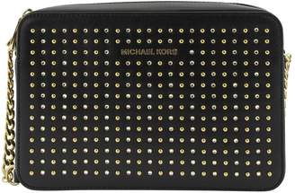 Michael Kors Jet Set Studded Crossbody Black