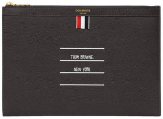 Thom Browne Grey Small Tablet Pouch