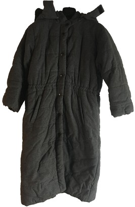 Parrot Anthracite Wool Coats