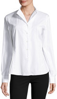 Lafayette 148 New York Audrey Button-Up Top, White