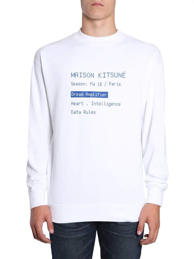 MAISON KITSUNÉ Sweater With Code Print