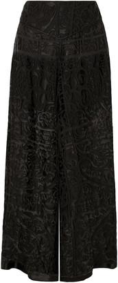 Anna Sui Devore-chiffon Wide-leg Pants