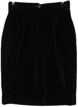 Moschino Cheap & Chic Moschino Cheap And Chic Black Velvet Skirt for Women Vintage