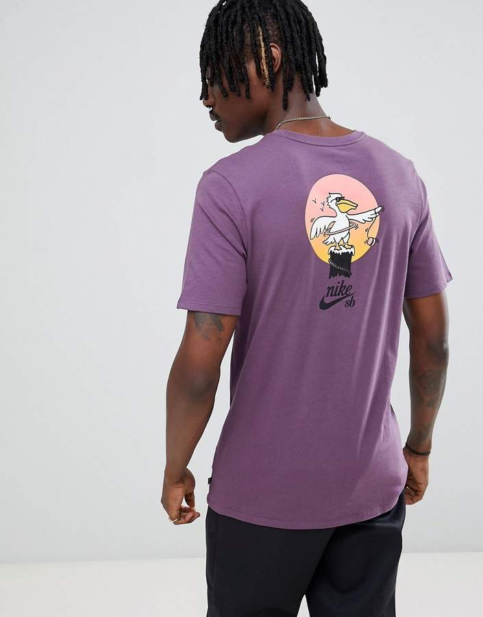 Nike Sb SB T-Shirt With Pelican Back Print In Purple 912350-517