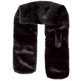 UGG Womens Faux Fur Pull Through Scarf Black