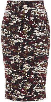 Victoria Beckham Cotton-blend Jacquard Pencil Skirt