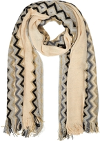 Missoni Zig Zag Wool Blend and Lurex Women's Long Scarf