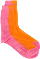Paul Smith colour-block socks - women - Cotton/Polyamide - One Size