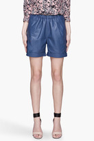 SEE BY CHLOE Blue lambskin Shorts