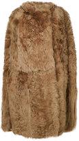 Yves Salomon oversize sleeveless coat