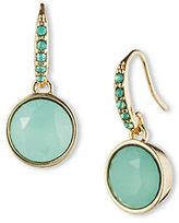lonna & lilly Goldtone and Jade Crystal Drop Earrings