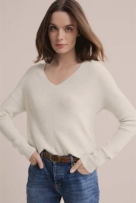 Witchery V Neck Stitch Detail Knit