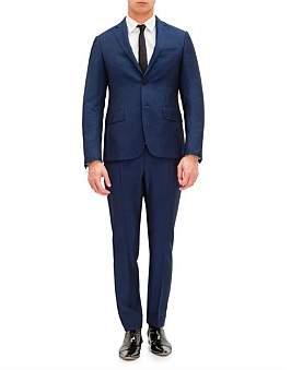 Pal Zileri Lab by 2B Sb Sv Wl/Mh/Se Notch Lapel Flap Pkt Suit