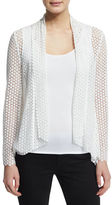 Elie Tahari Iryna Embroidered Lace Draped Jacket