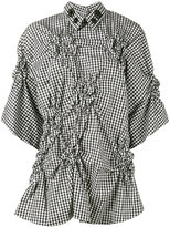 Simone Rocha ruched gingham top