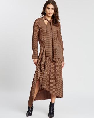 Apartment Clothing Tie Neck Sheath Dress