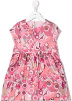 Fendi Bag Bugs jacquard dress - kids - Cotton/Polyamide/Polyester - 10 yrs