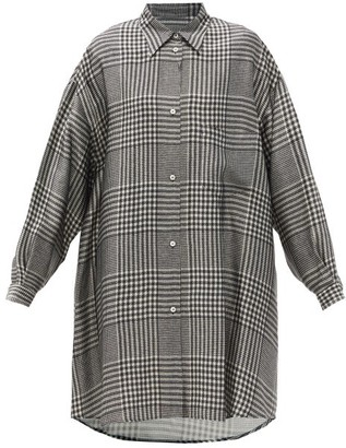 MM6 MAISON MARGIELA Prince Of Wales-print Shirt Dress - Black White