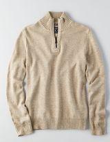 American Eagle AEO Quarter-Zip Mock Neck Sweater