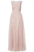Quiz Pink Tulle Flower Embellished Maxi Dress