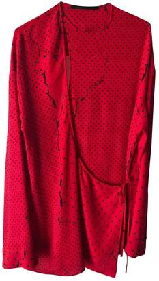 Haider Ackermann Red Polyester Tops