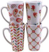 Certified International Rainbow Seeds 4-pc. Latte Mug Set
