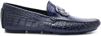 Roberto Cavalli Crocodile Effect Loafers