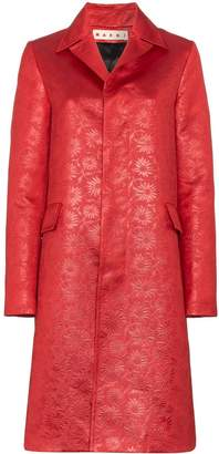 Marni floral embossed coat