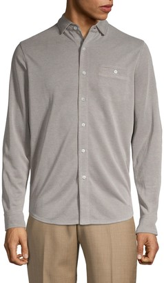 Saks Fifth Avenue Heathered Button-Down Shirt
