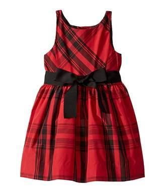 Polo Ralph Lauren Plaid Taffeta Dress (Toddler)