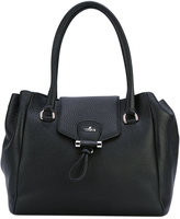 Hogan logo plaque tote bag - women - Calf Leather - One Size