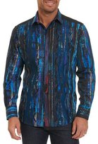 Robert Graham Limited Edition Kathleen's Blues Pleated Shirt, Multicolor