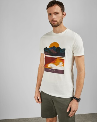 Ted Baker Printed Cotton T-shirt