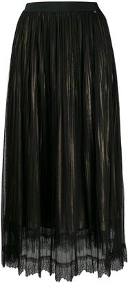 Twin-Set Gathered Tulle Layered Skirt
