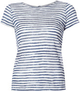 Majestic Filatures striped T-shirt - women - Linen/Flax - 1