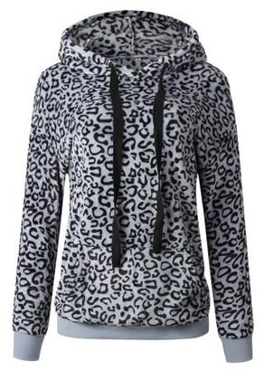Clm Lilly Posh Leopard Print Fleece Hoodie