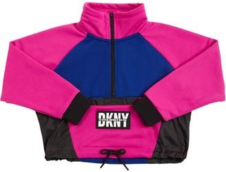 DKNY Logo Patch Crop Sweatshirt