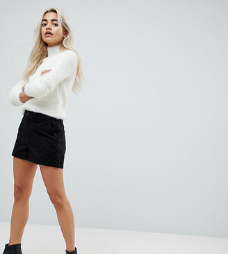 Asos DESIGN Petite chino shorts in black