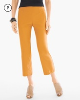 Chico's Stretch Straight-Leg Crops in Burnt Yellow Ochre