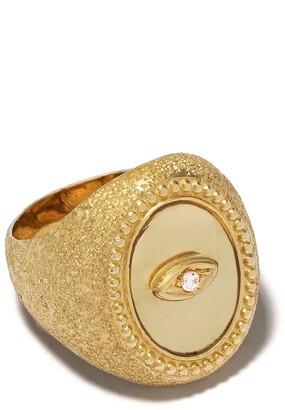 Feidt Paris 9kt yellow gold Ibiza sapphire and quartz ring